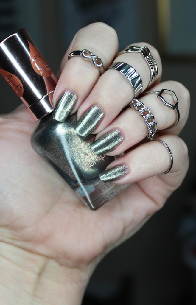 Sally Hansen Argan Oil Color Therapy Nail Polish In 130 Therapewter Swatches Review All