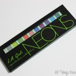 LA Girl USA Beauty Brick Eyeshadow Collection in Neons Palette Swatches, Review & Demo