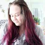 DIY at Home Hair Dye Tips & Tricks + Twisted Headband Styling Tutorial with Schwarzkopf got2b® Metallics Smoky Violet